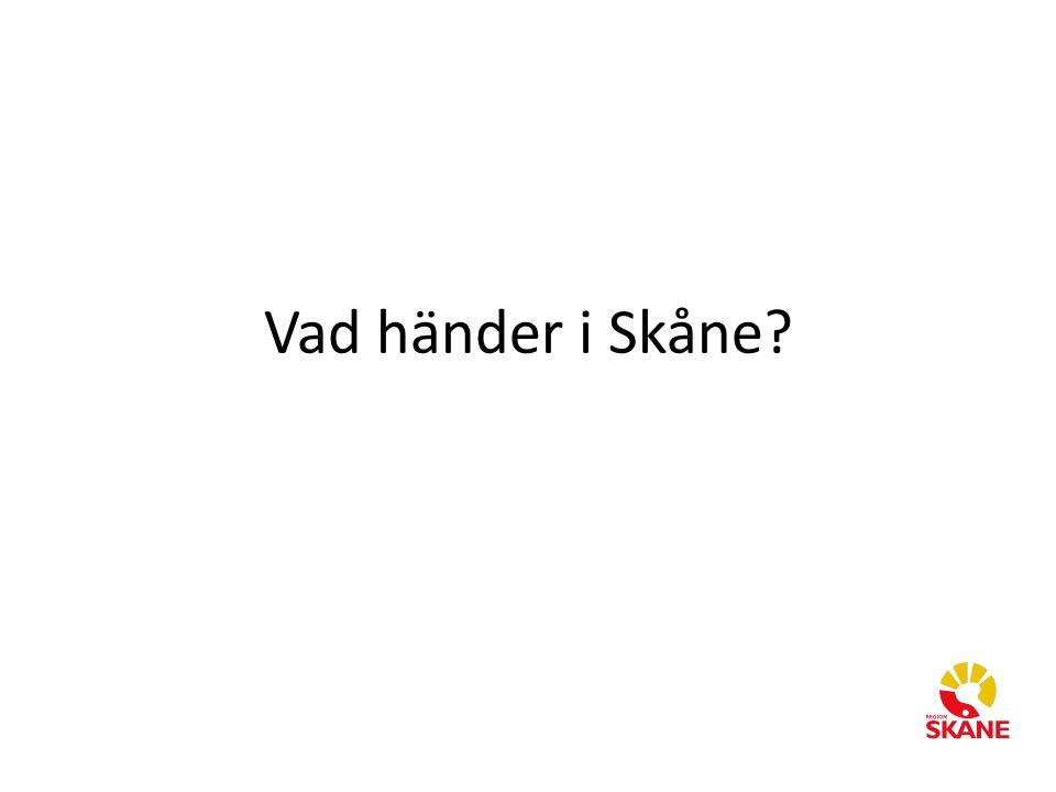 Vad händer i Skåne?