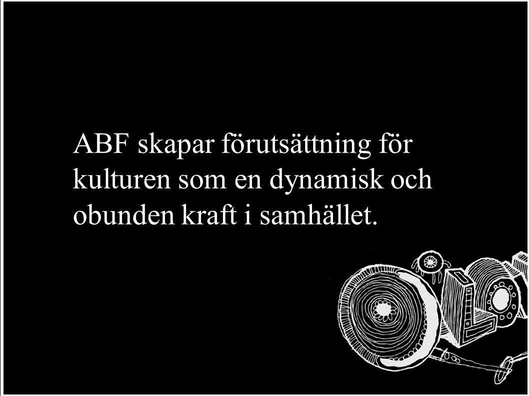 ABF skapar förutsättning för kulturen som en dynamisk och obunden kraft i samhället.
