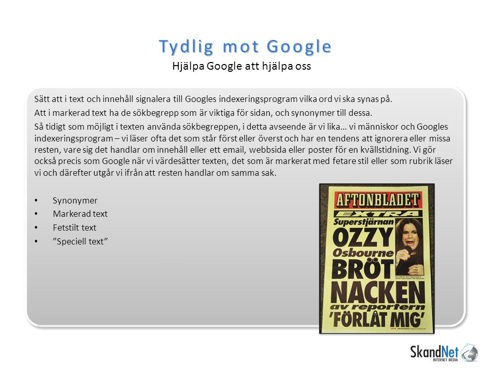 Titel och beskrivning Sidtypen avgör Innehållsmall