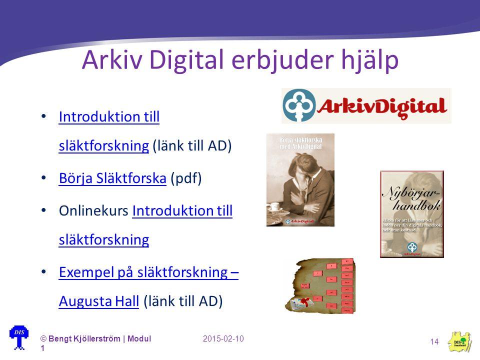 Arkiv Digital erbjuder hjälp Introduktion till släktforskning (länk till AD) Introduktion till släktforskning Börja Släktforska (pdf) Börja Släktforsk