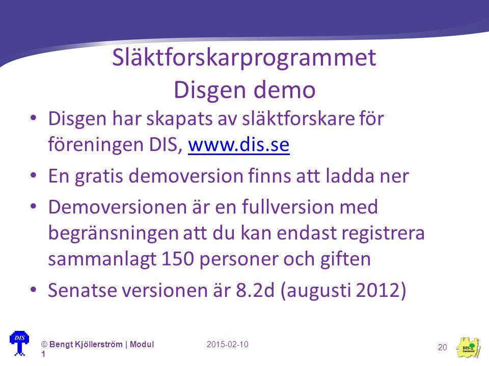 Släktforskarprogrammet Disgen demo Disgen har skapats av släktforskare för föreningen DIS, www.dis.sewww.dis.se En gratis demoversion finns att ladda