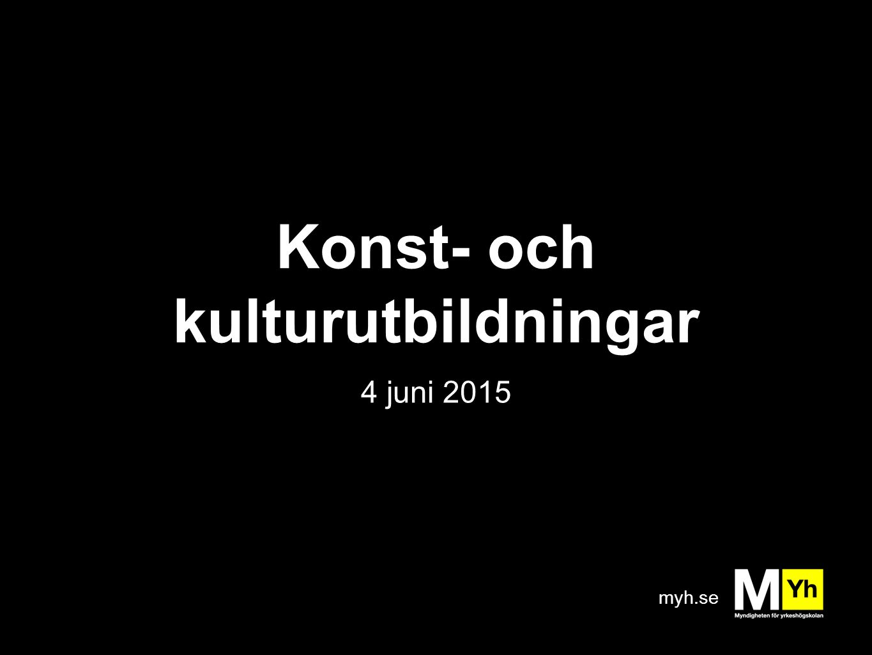 myh.se Konst- och kulturutbildningar 4 juni 2015