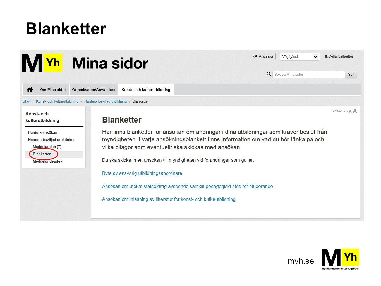 myh.se Blanketter