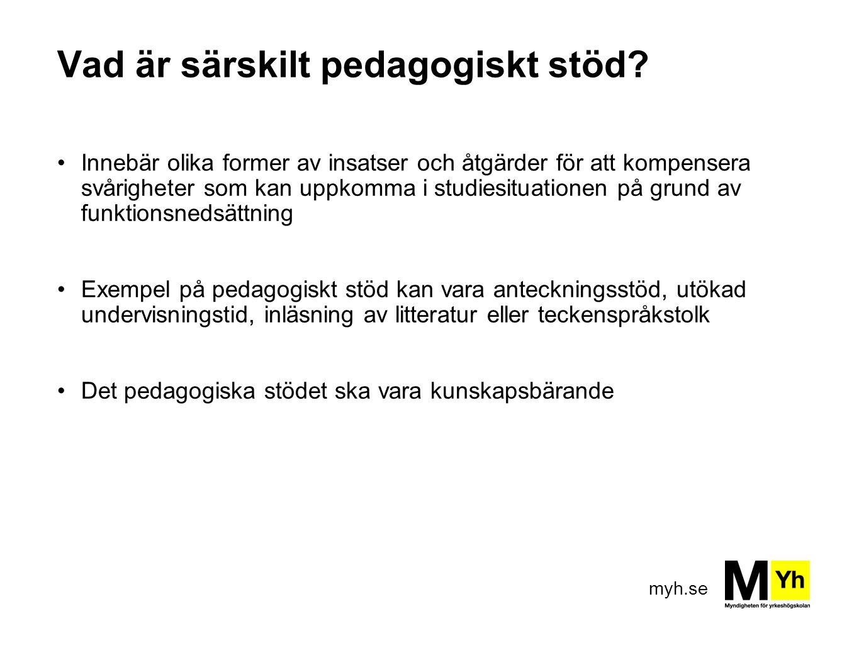 myh.se Vad är särskilt pedagogiskt stöd.