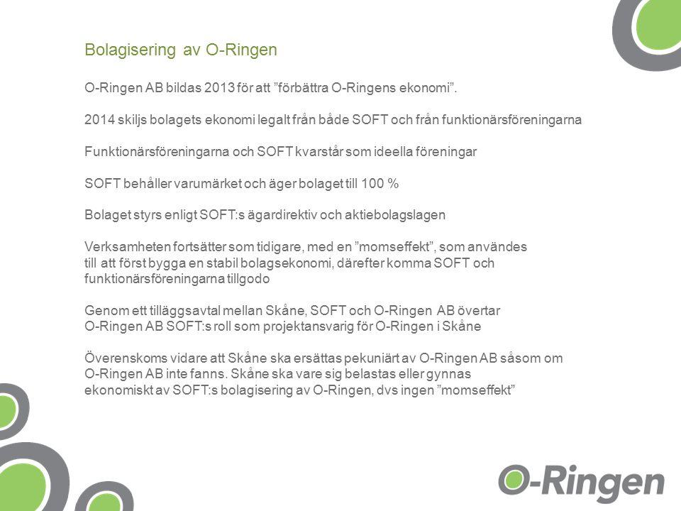 O-Ringen AB bildas 2013 för att förbättra O-Ringens ekonomi .