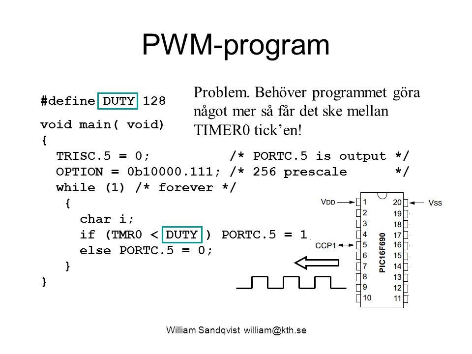 CCP-enhet William Sandqvist william@kth.se Det finns ett uppenbart behov av en självgående enhet för generering av PWM.