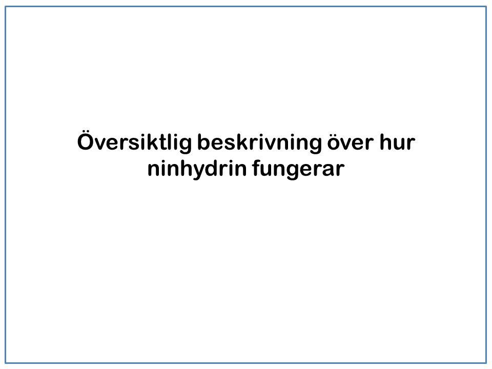 Översiktlig beskrivning över hur ninhydrin fungerar