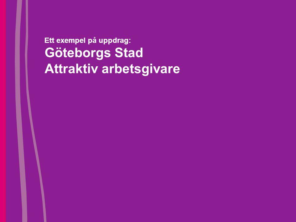 Ett exempel på uppdrag: Göteborgs Stad Attraktiv arbetsgivare
