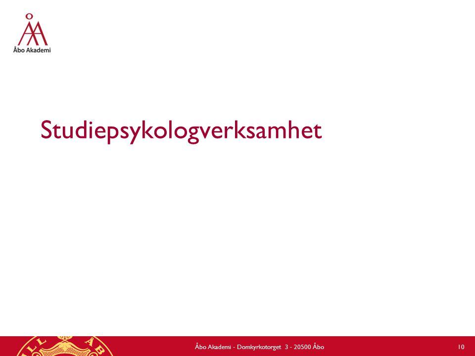 Studiepsykologverksamhet Åbo Akademi - Domkyrkotorget 3 - 20500 Åbo 10