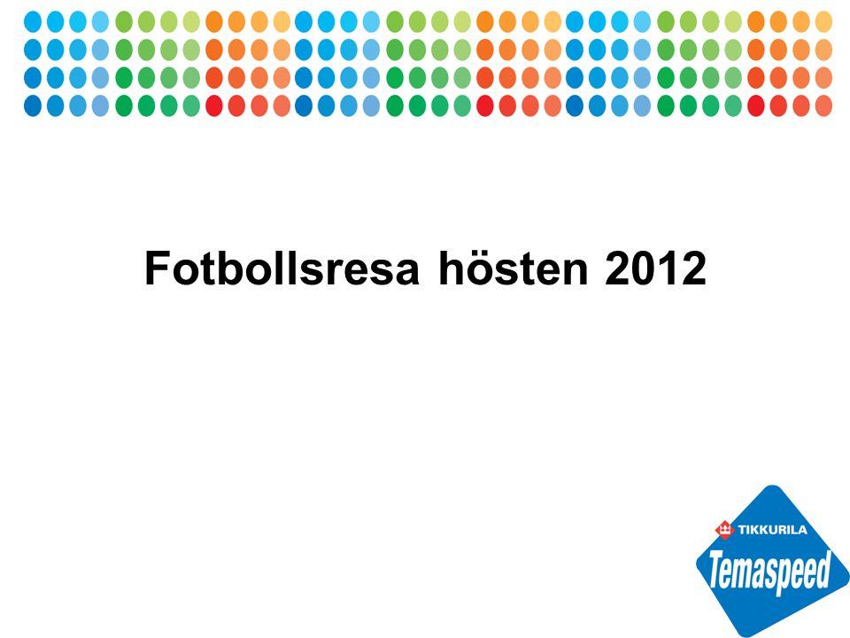 Fotbollsresa hösten 2012