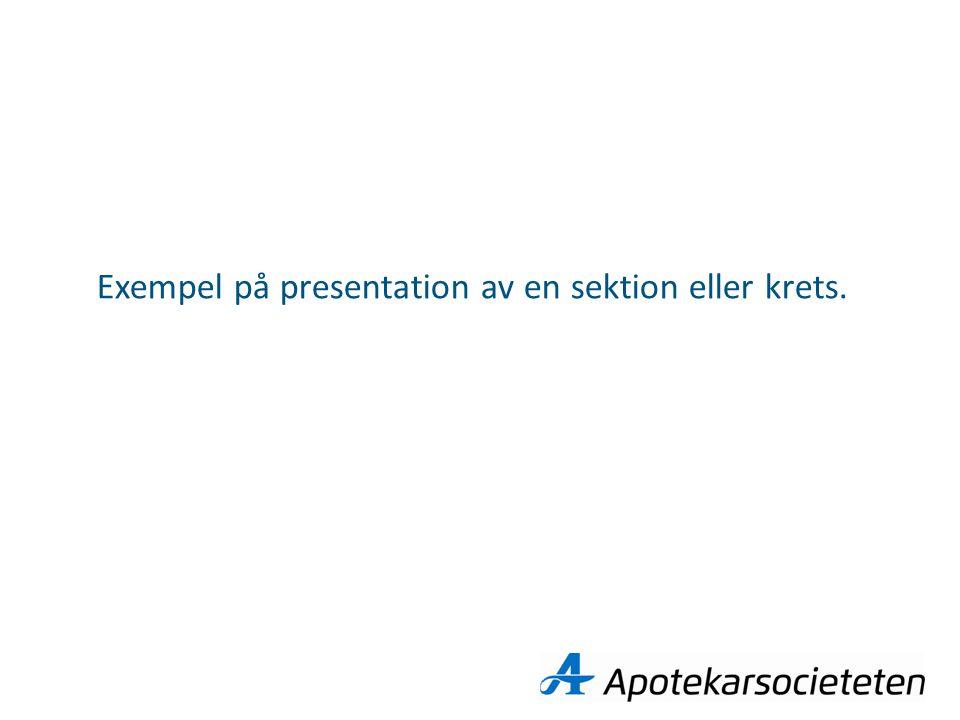 Exempel på presentation av en sektion eller krets.