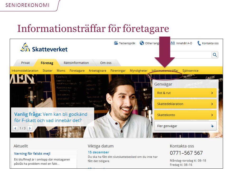 Informationsträffar för företagare SENIOREKONOMI