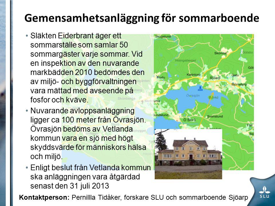 Gemensamhetsanläggning för sommarboende Släkten Eiderbrant äger ett sommarställe som samlar 50 sommargäster varje sommar.