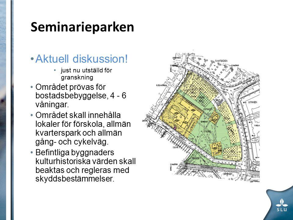 Seminarieparken Förslag från bl.a.Per Hultén Terrasshus ALTERNATIV VA-LÖSNING.