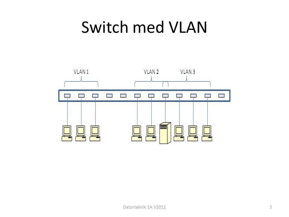 Switch med VLAN Datorteknik 1A V20113