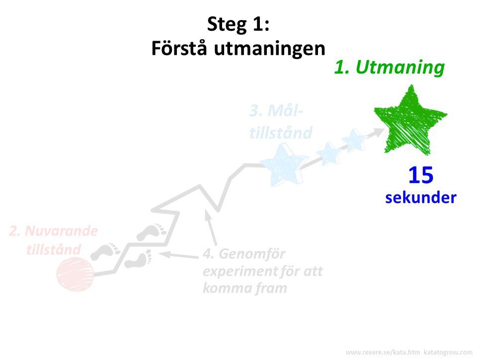Låt oss gå igenom de fyra stegen i förbättringkatan www.revere.se/kata.htm katatogrow.com