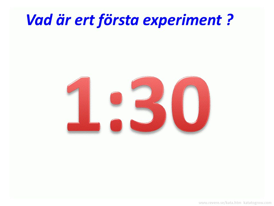 """Planerar ert första EXPERIMENT Före varje runda, skriver ni ner de idéer ni vill testa på """"experiment-blanketten"""" Skriv ner idéer för ert första exper"""