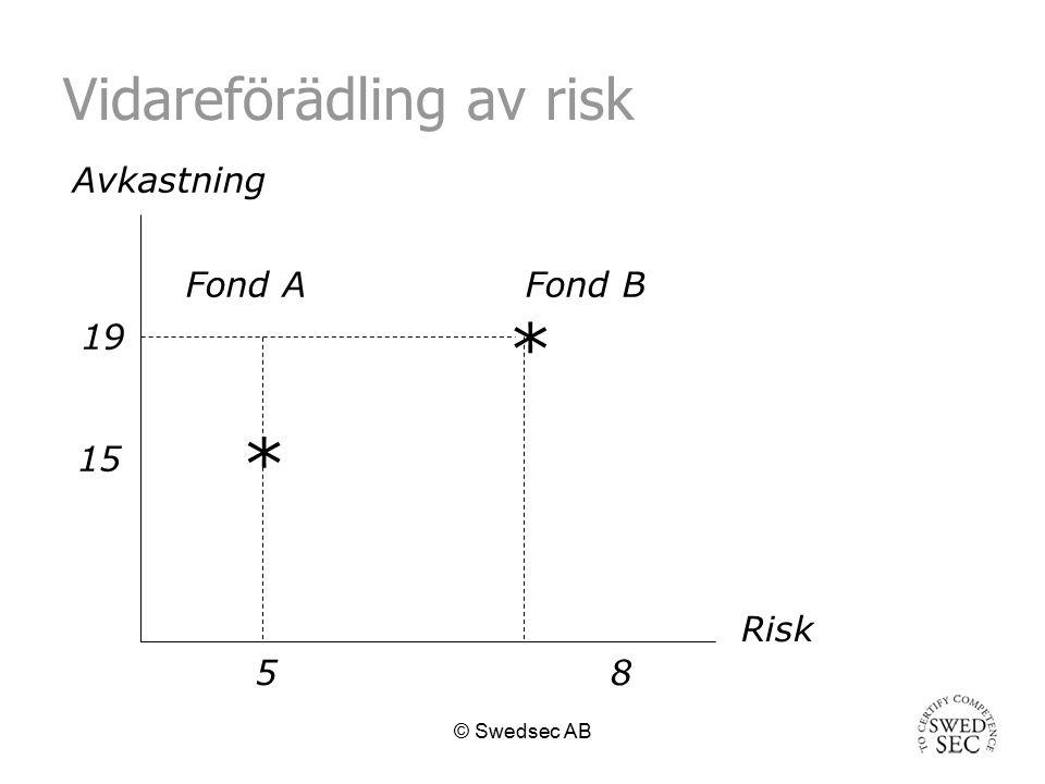 © Swedsec AB Avkastning och risk Har placeringen givit en avkastning som motsvarar dess risk.