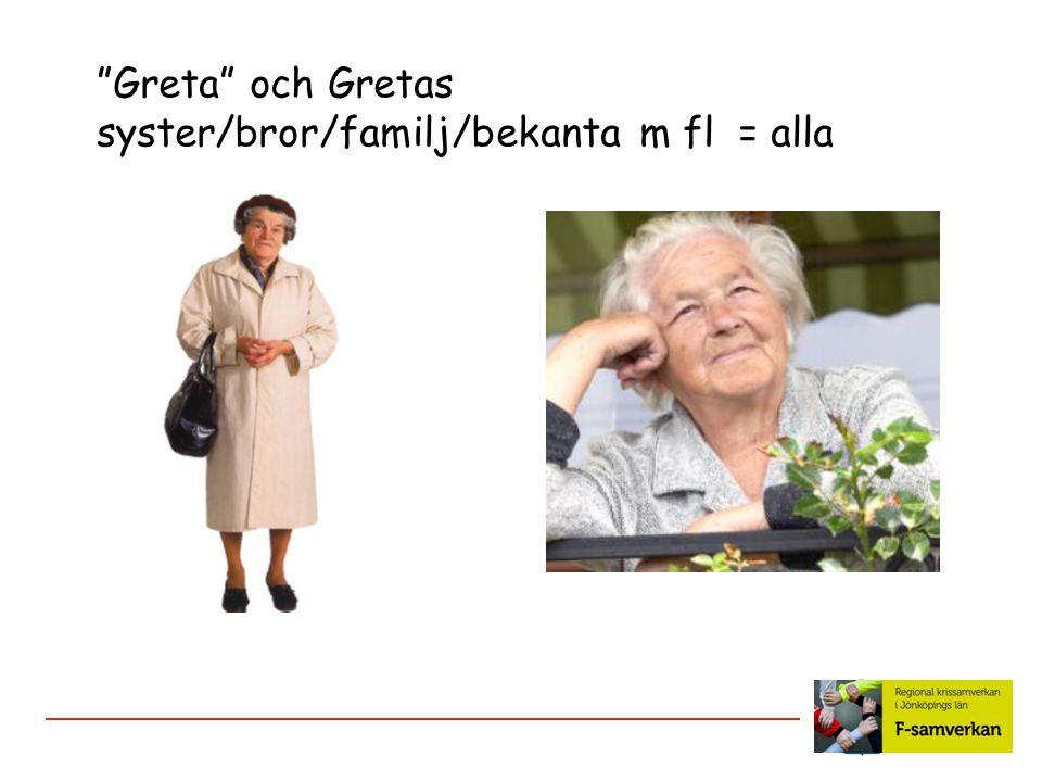"""""""Greta"""" och Gretas syster/bror/familj/bekanta m fl = alla"""