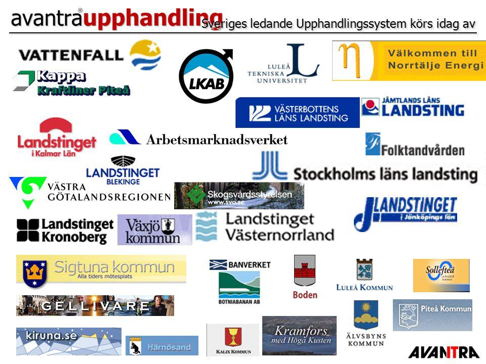 Sveriges ledande Upphandlingssystem körs idag av