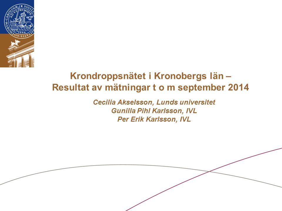 Lunds universitet / Institutionen för Naturgeografi och Ekosystemvetenskap Upplägg  Vad är Krondroppsnätet.