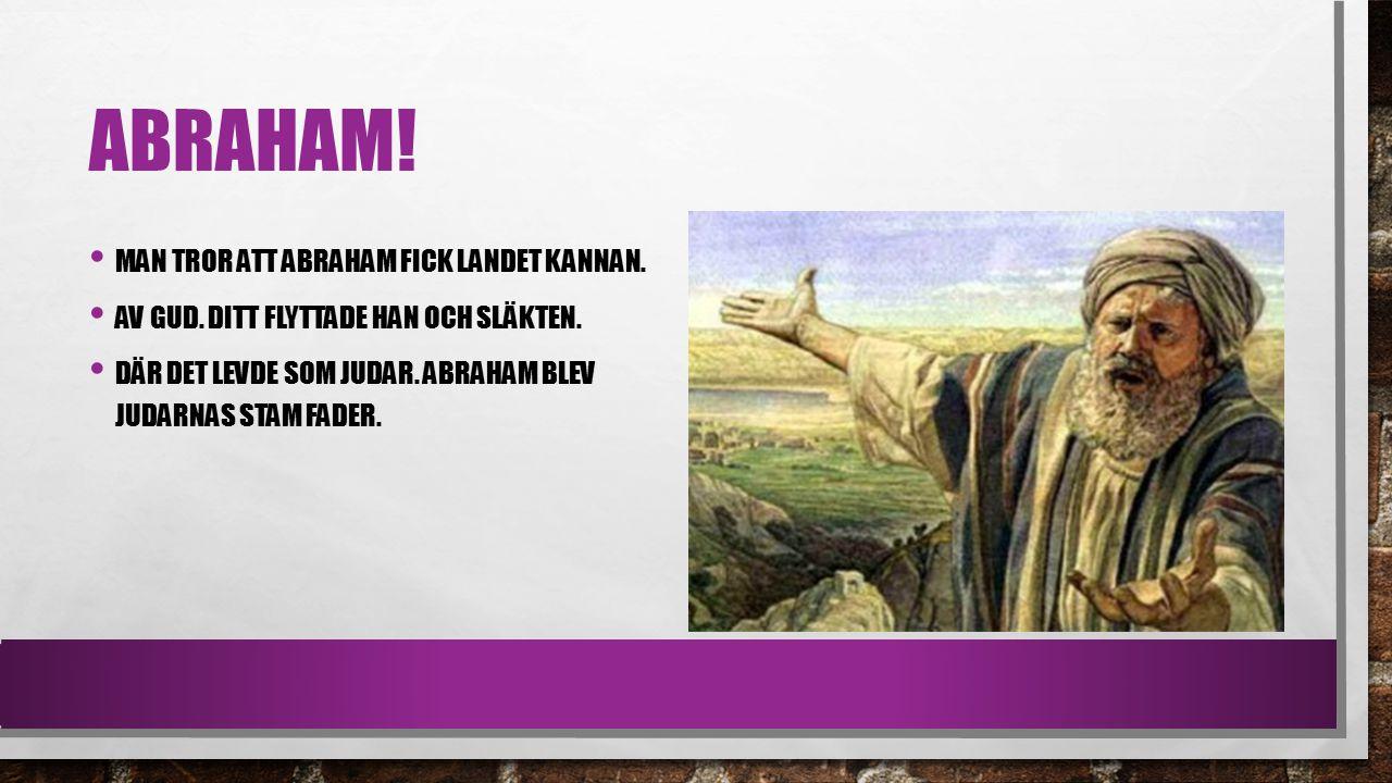 ABRAHAM.MAN TROR ATT ABRAHAM FICK LANDET KANNAN. AV GUD.