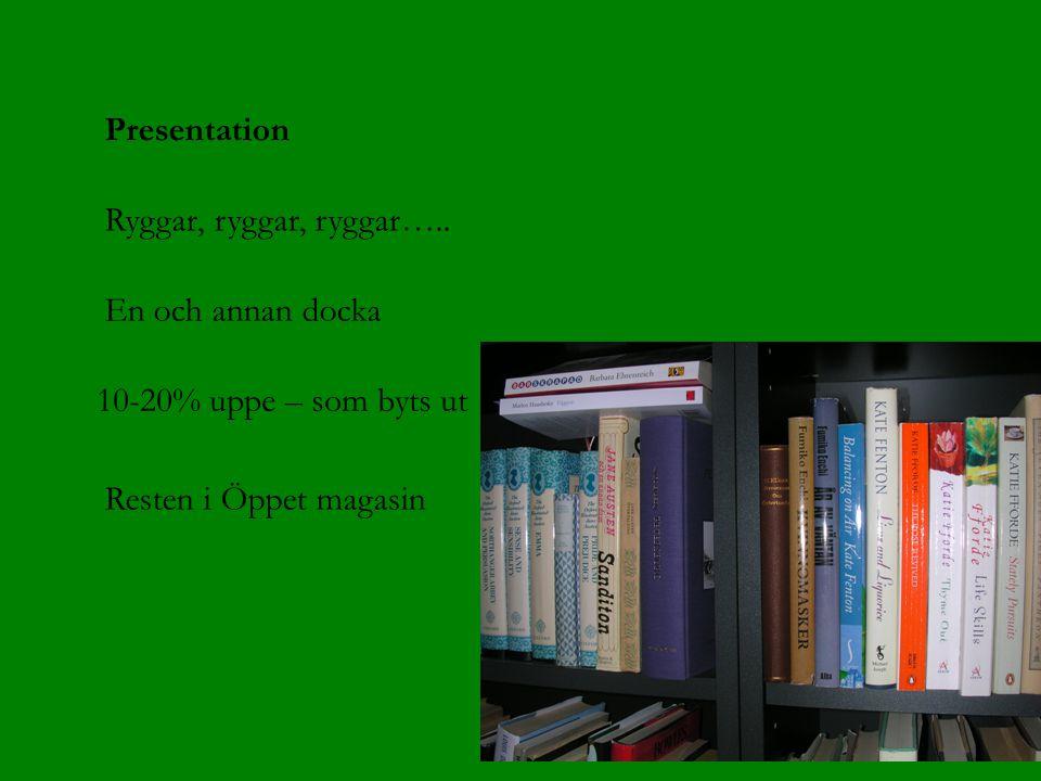 Presentation Ryggar, ryggar, ryggar…..