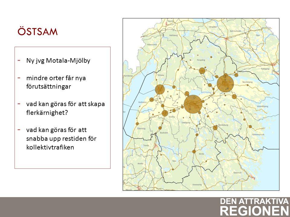 ÖSTSAM - Ny jvg Motala-Mjölby - mindre orter får nya förutsättningar - vad kan göras för att skapa flerkärnighet.