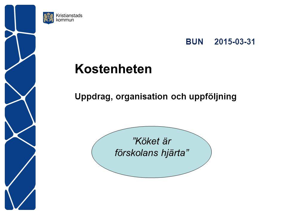 """BUN 2015-03-31 Kostenheten Uppdrag, organisation och uppföljning """"Köket är förskolans hjärta"""""""