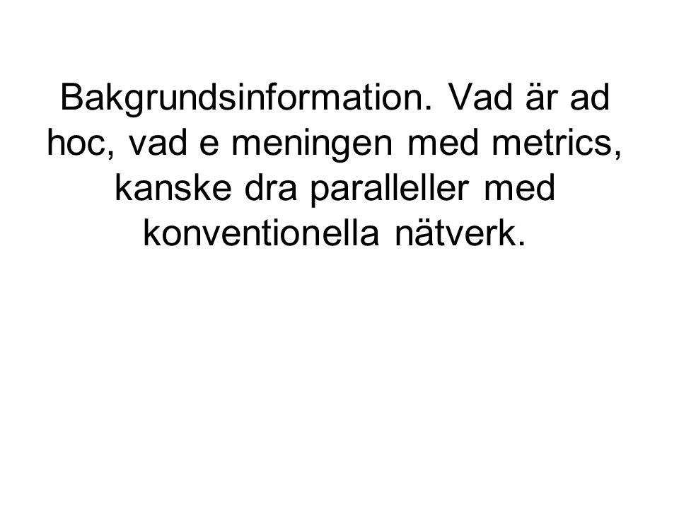 Bakgrundsinformation.