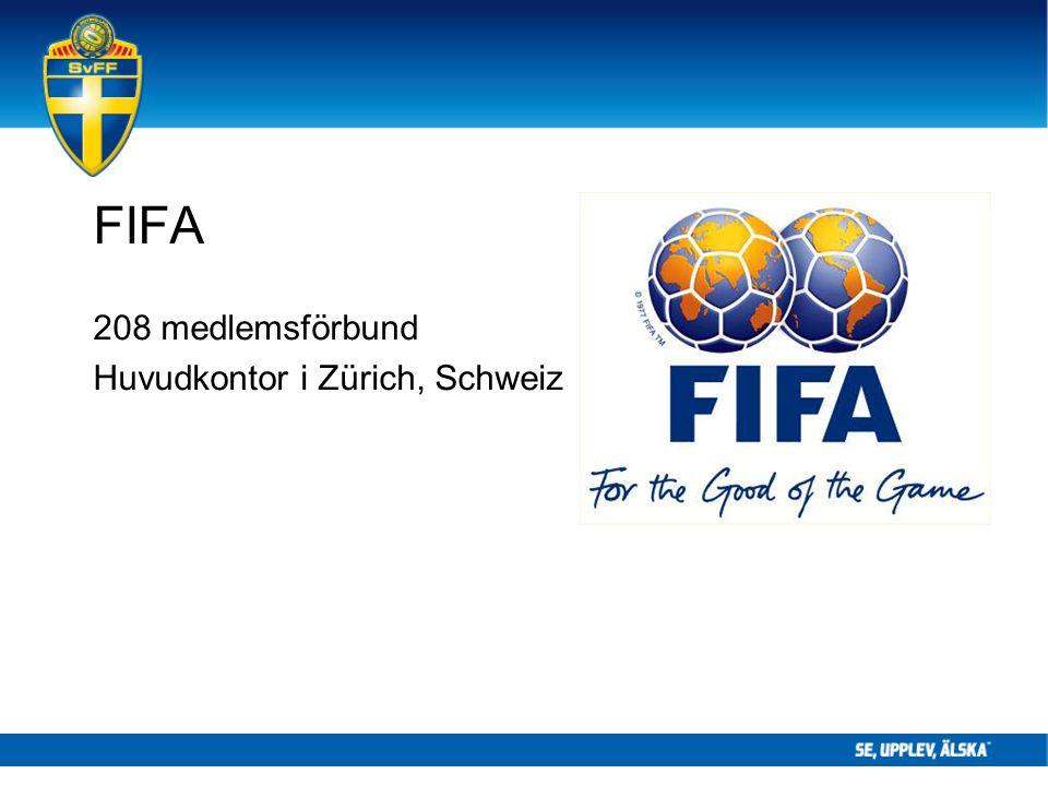 FIFA 208 medlemsförbund Huvudkontor i Zürich, Schweiz