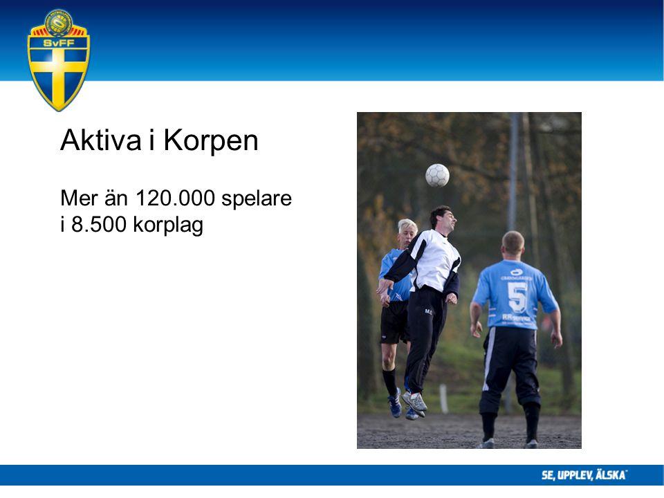 Aktiva i Korpen Mer än 120.000 spelare i 8.500 korplag