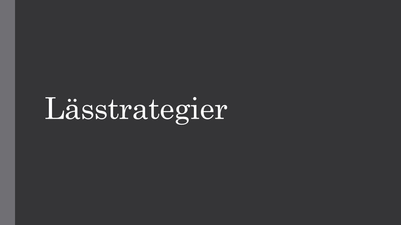 Lässtrategier