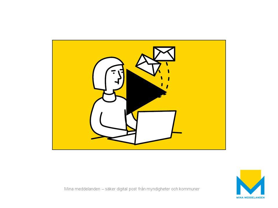 Mina meddelanden – säker digital post från myndigheter och kommuner