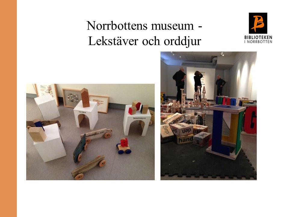 Norrbottens museum - Lekstäver och orddjur