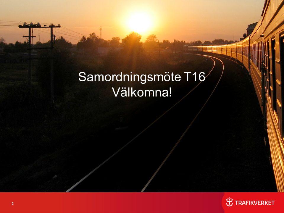 3 RumTidBana/företeelseBerörda JF 2071 (28 platser)12.00-12.15Inledning Samtliga 2071 (28)12.15-18.00Diskussionsrum Samtliga har tillgång 2066 (28) 12.15-14.30Västra Stambanan, Resandetåg - Övrigt Arriva, MTR Nordic AB, SJ AB, Skandinaviska Jernbanor, Stockholmståg, Transdev, Tågåkeriet i Bergslagen, Västtrafik 2095 (20) 12.15-14.30Värmland samt Norge-Vänerbanan, Resandetåg - Övrigt SJ AB, Tågkompaniet, Tågab 2077 (14)12.15-14.30 SSB, inkl Öresundsbron, Godståg - Uppställning Eslöv - Övrigt CFL Cargo, DB Schenker, Green Cargo, Hector Rail, Real Rail, TX Logistik, Tågåkeriet i Bergslagen 2078 (6)12.15-14.30 Uppsala/Västerås - Uppställning SJ AB 2091 (6)12.15-18.00 JF-rum Samtliga har tillgång 2077 (14)15.00-17.00 SSB, inkl.