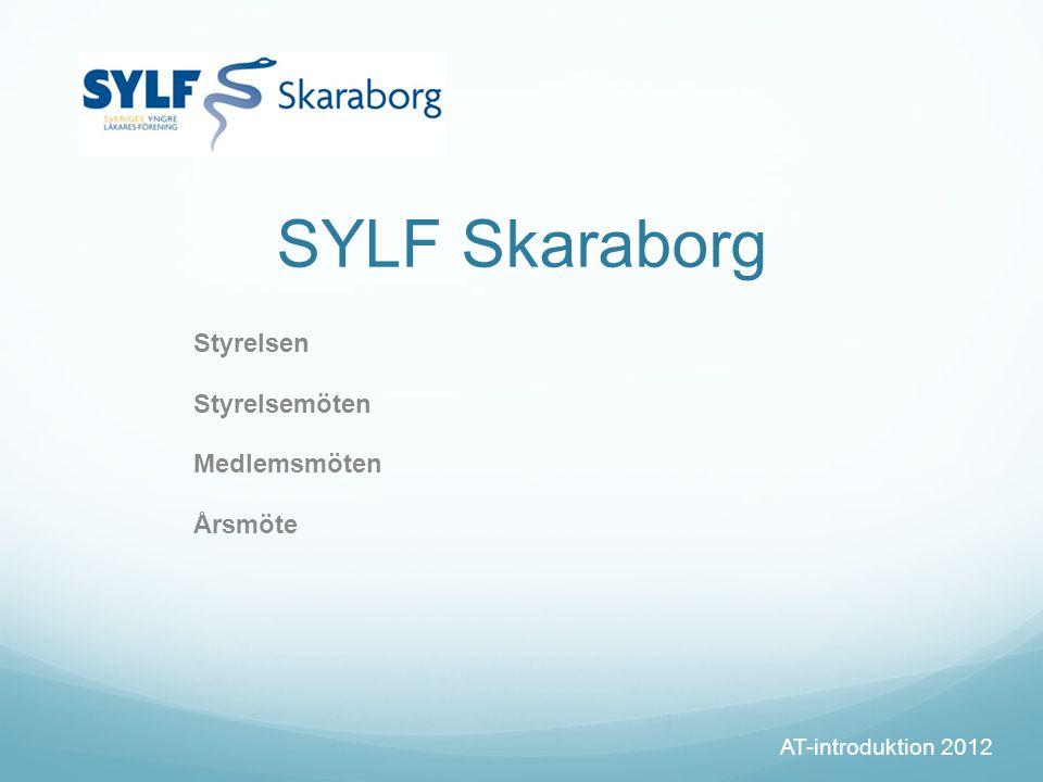 SYLF Skaraborg Styrelsen Styrelsemöten Medlemsmöten Årsmöte AT-introduktion 2012