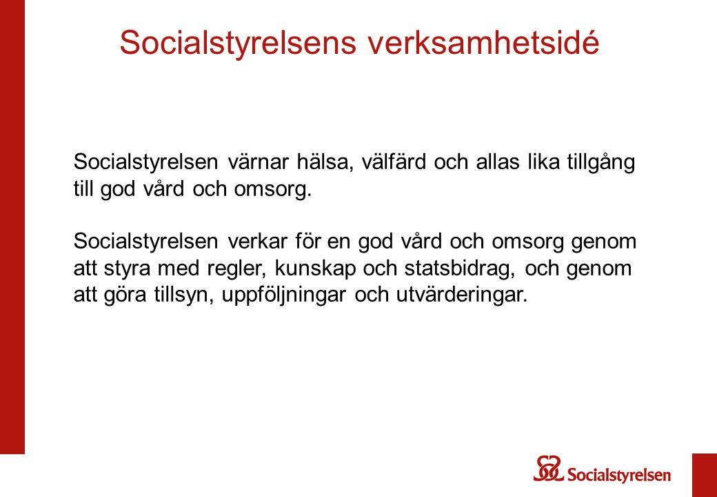 Socialstyrelsen värnar hälsa, välfärd och allas lika tillgång till god vård och omsorg.