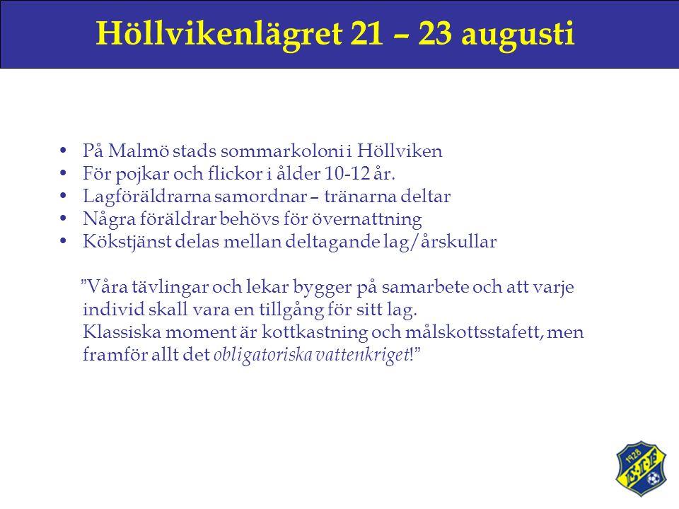 Höllvikenlägret 21 – 23 augusti På Malmö stads sommarkoloni i Höllviken För pojkar och flickor i ålder 10-12 år.