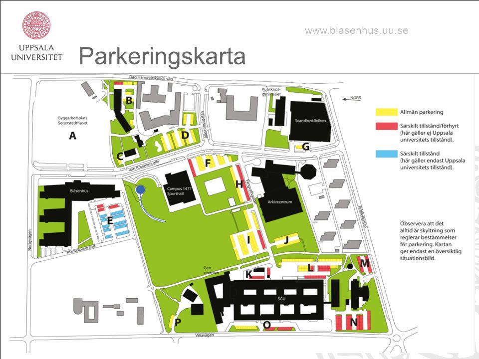 Parkeringskarta www.blasenhus.uu.se
