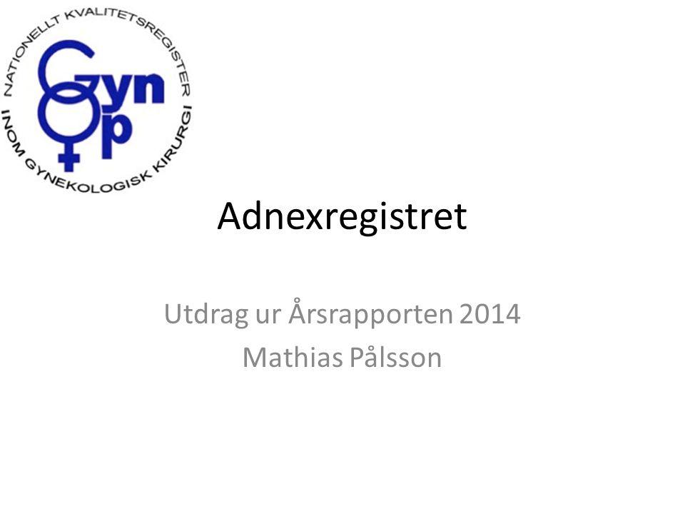 Adnexregistret Utdrag ur Årsrapporten 2014 Mathias Pålsson