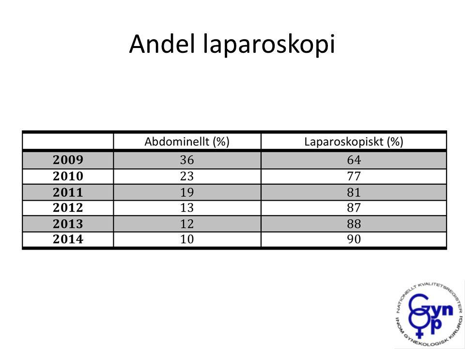 Andel laparoskopi
