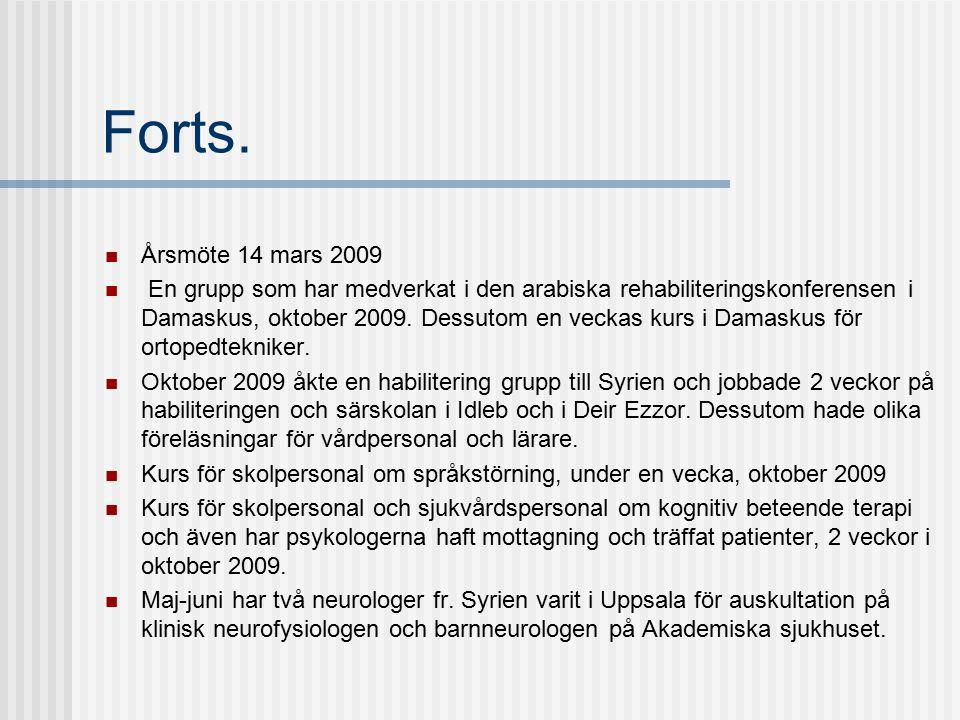 Forts.Återträff för resedeltagarna jan-2009 och november 2009.