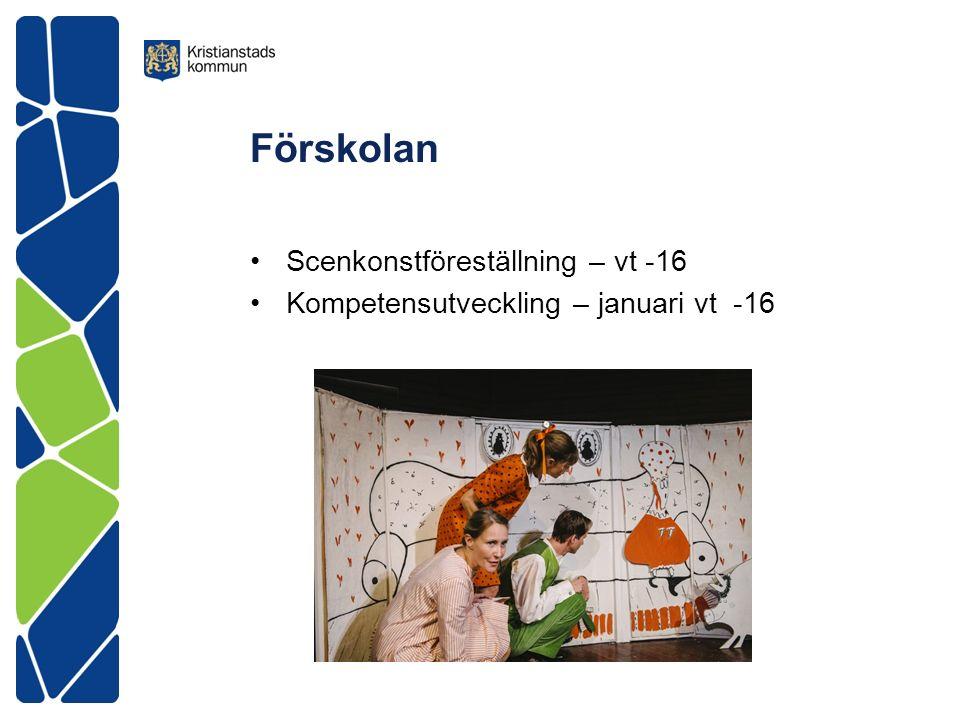 Förskolan Scenkonstföreställning – vt -16 Kompetensutveckling – januari vt -16