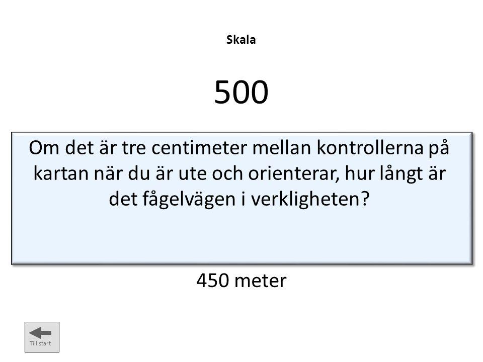 Skala 400 Till start Orienteringskartor är oftast ritade i denna skala: 1:15 000