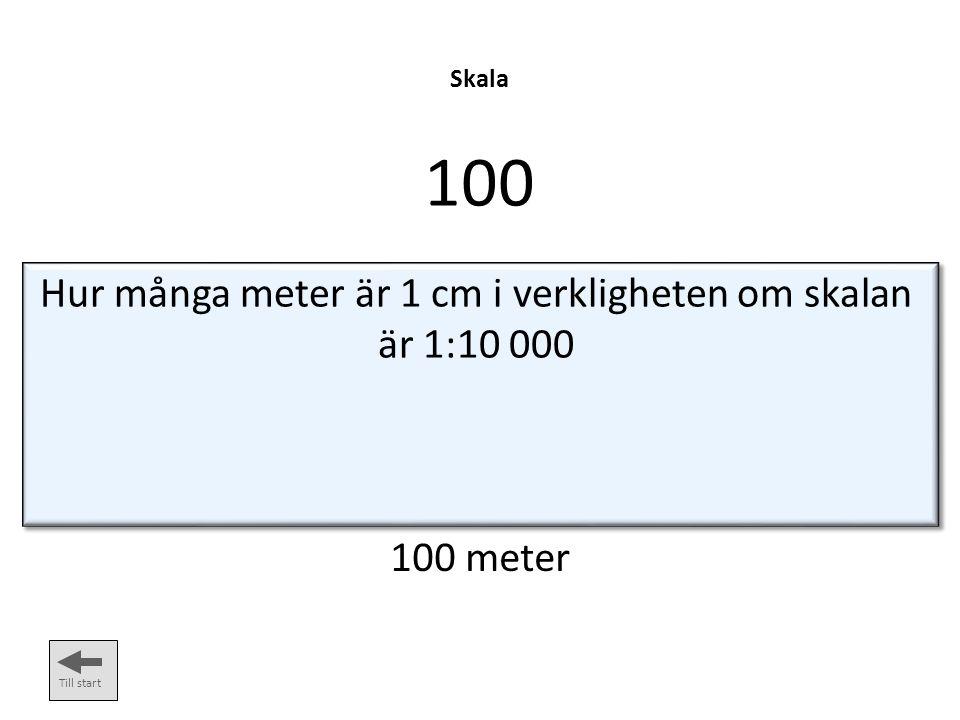 Höjdkurvor 100 Till start Hur stor är höjdskillnaden mellan två höjdkurvor på en orienteringskarta.