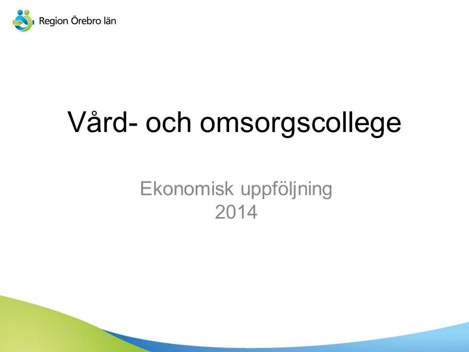 Vård- och omsorgscollege Ekonomisk uppföljning 2014