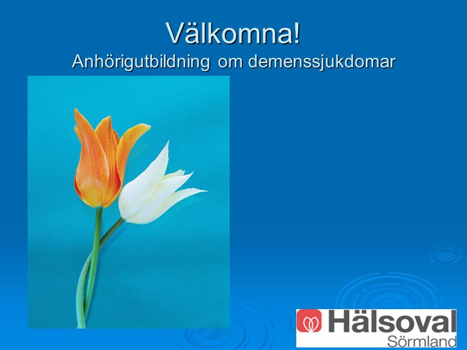 Välkomna! Anhörigutbildning om demenssjukdomar