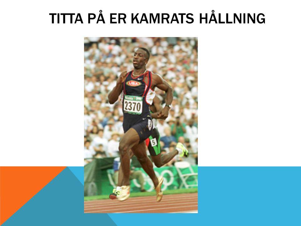 TITTA PÅ ER KAMRATS HÅLLNING