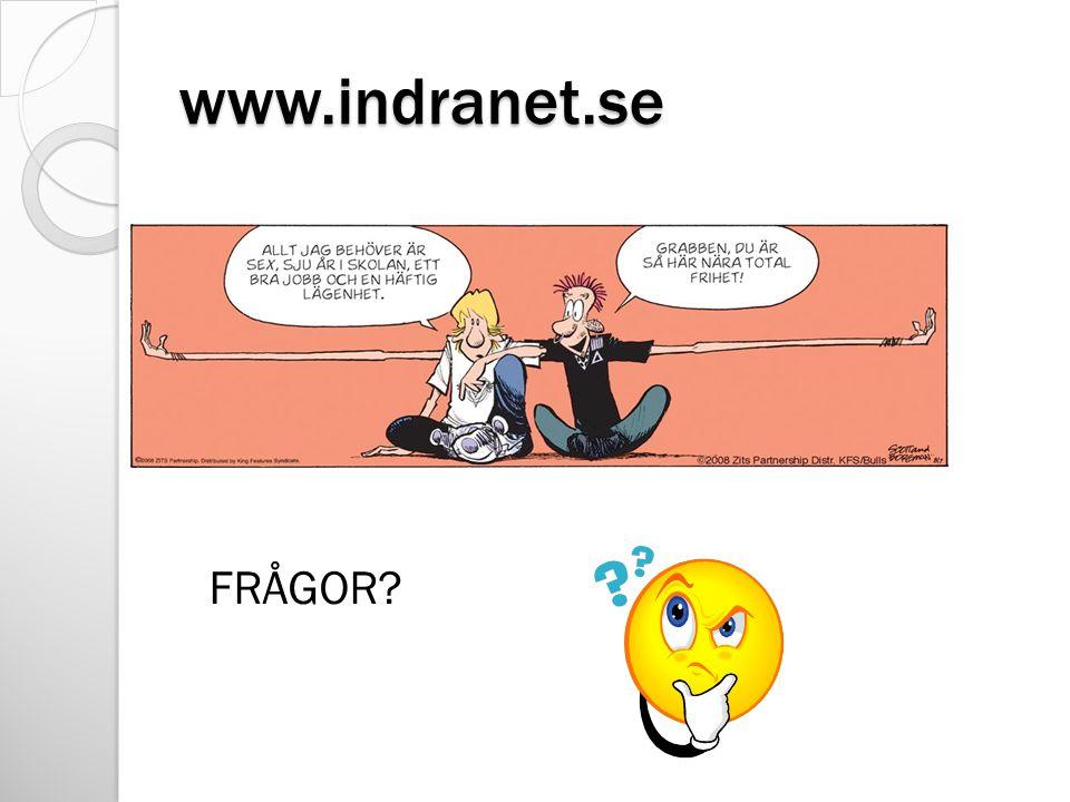 www.indranet.se FRÅGOR?